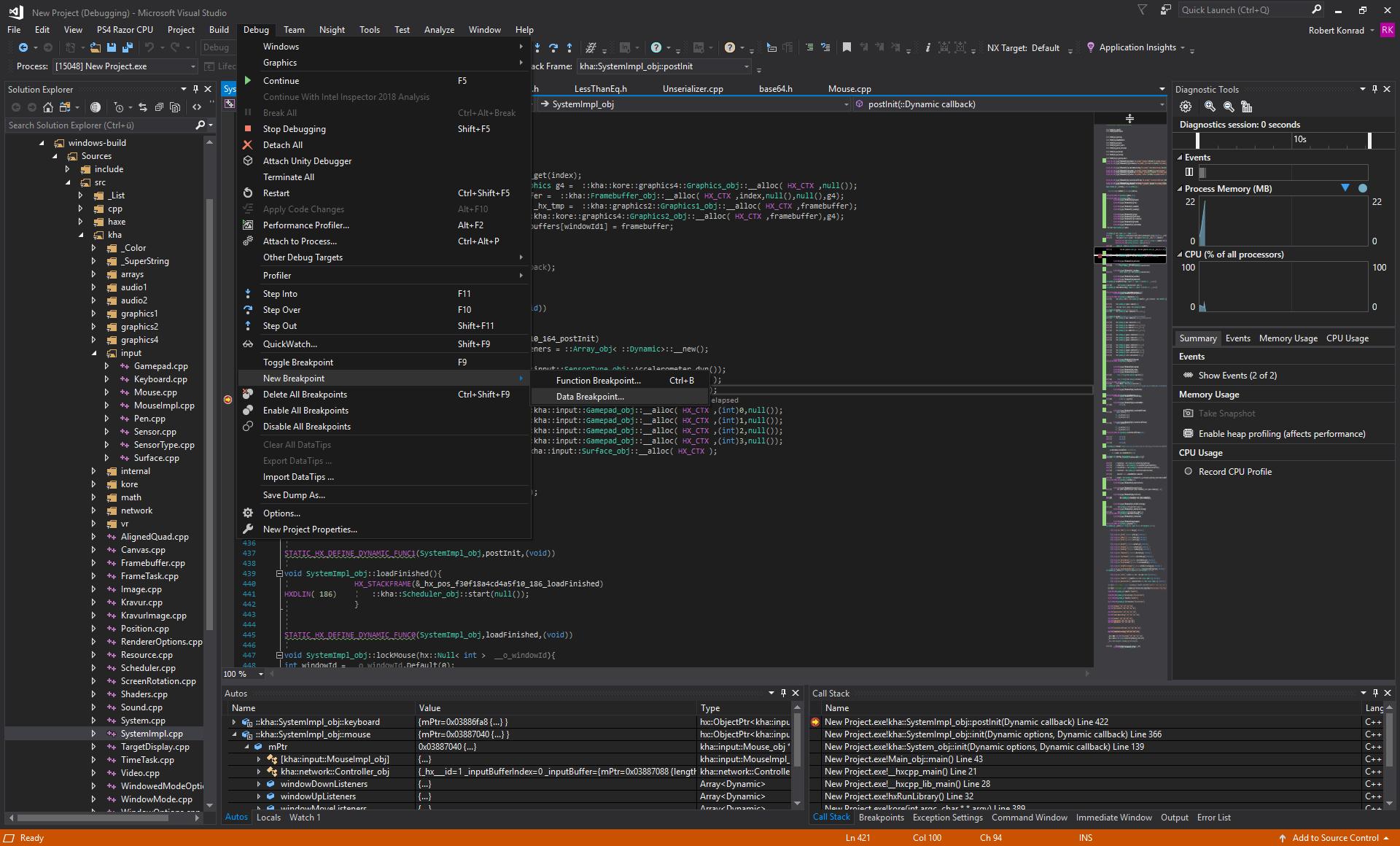Visual Studio Debug 2